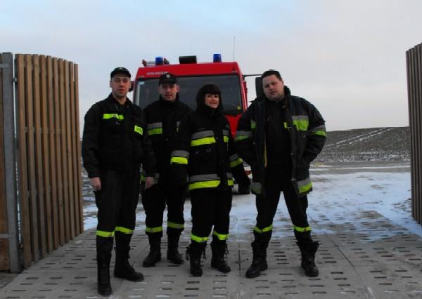 Wjazd alarmowy w okolicach Klonówki